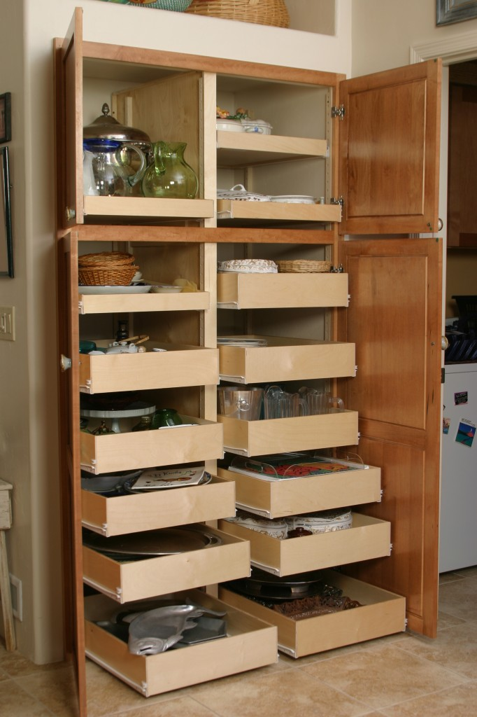 Pull out pantry organizer systems i wonder what the weight limit is on these though anyone ever Bathroom cabinet organizers pull out