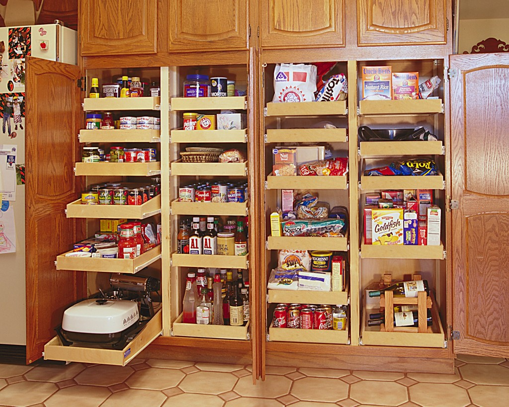 Pull out pantry kitchensource pinterest followerfind - Roll out shelving for pantry ...